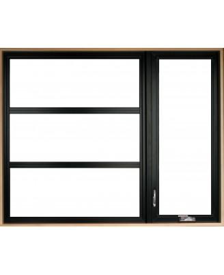 Fenêtre à battant hybride contemporaine